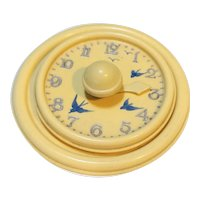 Vintage Early Plastic Cream Clock Medicine Timer Drink Cover