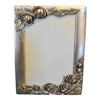 Godinger Silverplated Frame Photo Album Roses Cover