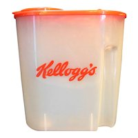 Kellogg's Cereal Keeper Canister Red Lid 1996