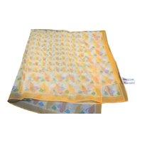 Aurora Yellow Orange Chiffon Polyester Scarf Japan
