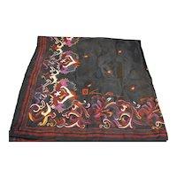 Anne Klein Black Red Floral Color Plus Silk Scarf