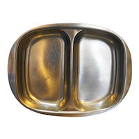 Cultura 18-8 Stainless Sweden Midcentury Modern Divided Bowl Tray