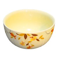 Hall Autumn Leaf Jewel Tea 9 IN 3.5 Qt Large Mixing Bowl Radiance Shape