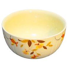 Hall Autumn Leaf Jewel Tea 9 IN 3.5 Qt Large Mixing Bowl Radiance Shape