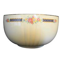 Hall Rose Blue Bouquet Platinum Trim Radiance Mixing Bowl 7 IN