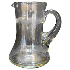 Monongah Roseland #800 Etch 48 Oz Pitcher