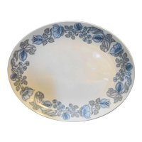 Franciscan Petals & Pods Blue On White Ironstone Platter