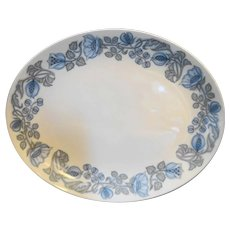 Franciscan Petals & Pods Blue On White Ironstone Platter