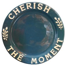 Cherish the Moment House of Lloyd Blue Plate