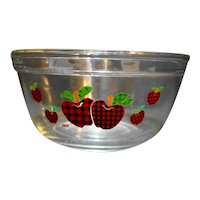 Anchor Hocking Applejack International China Glass Mixing Bowl 8 IN