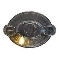 Adams Good Luck Horseshoe EAPG Bread Tray