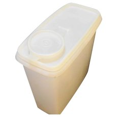 Tupperware 469 Sheer White Cereal Keeper
