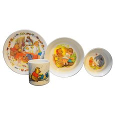 Winnie The Pooh Melmac Childs Dish Set Disney National Home Products