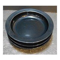 Dansk Bistro Bisserup Blue Rimmed Soup Bowls 8 IN