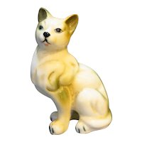 Siamese Cat Porcelain Figurine Small Hand Painted