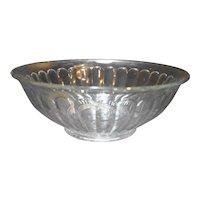 Clear Pillar Optic Glass Serving Bowl