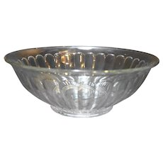 Clear Pillar Optic Glass Serving Bowl