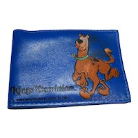 Scooby Doo Blue Vinyl Wallet Kings Dominion