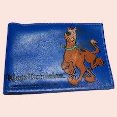 Scooby Doo Blue Vinyl Wallet Kings Dominion