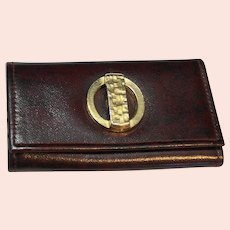 Buxton Brown Leather KeyTainer Key Holder