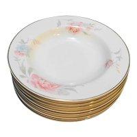 Christopher Stuart Santa Rosa Fine Ivory China Rimmed Soup Bowls