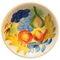 Bright Fruit Hand Painted Pottery Bowl Japan