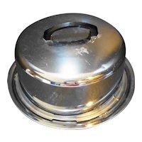 Everedy Chrome Cake Saver Taker Dome Locking Cover Base