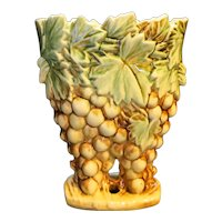 McCoy Grapes Brown Green Vase 1951
