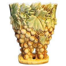 McCoy Grapes Brown Green Vase 1951
