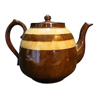 Brown Betty England Teapot Marbled Stripes