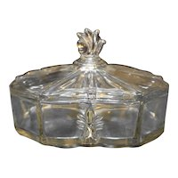 Fostoria Baroque 3 Part Candy Box Divided Candy Dish With Lid
