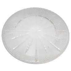 Fire King White Milk Glass Cake Stand