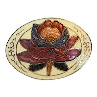 Cloisonne Flower Hair Clip Pony Tail Cover