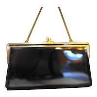 Ande Black Patent Purse Clutch