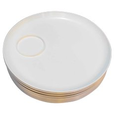 Thermo Temp Randall Mallory White Plates Set of 8