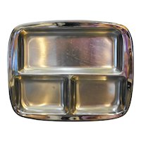 Cromargan Sweden Stainless Steel Divided Relish Rectangle Bowl WMF Midcentury Modern