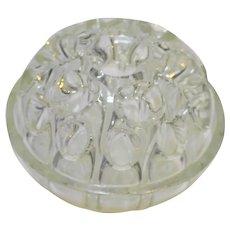 Reims Made in France 19 Chamber Art Glass Flower Frog Domed Large