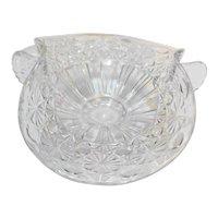 Daisy Button Clear Glass Basket Shaped Bon Bon Bowl