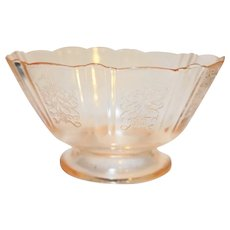 American Sweetheart Pink Footed Sherbet Depression Glass