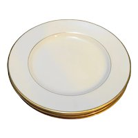 Royal Limited Golden Ivory Salad Plates Set of 3