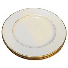 Royal Limited Golden Ivory Salad Plates Set of 3
