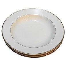 Royal Limited Golden Ivory Rimmed Soup Bowls Set of 3