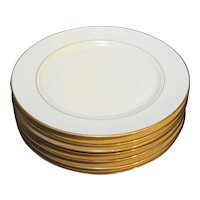 Royal Limited Golden Ivory Dinner Plates Set of 7