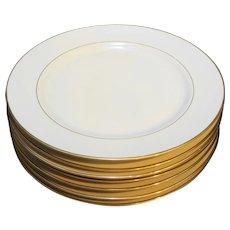 Royal Limited Golden Ivory Dinner Plates Set of 7