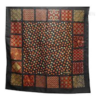 Diane Von Furstenberg Color Authority Black Chiffon Scarf