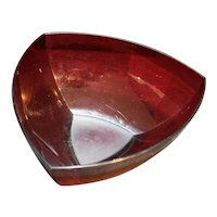 Tupperware Sheerly Elegant 4 L Red Triangle Acrylic Serving Bowl