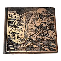 Man With Dog Electrotype National Engraving Copper Printer Block