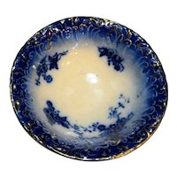 La Belle China Wheeling Pottery Flow Blue Cereal Bowl