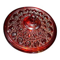 Indiana Glass Windsor Red Candy Dish With Lid