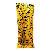 Echo Originations Silk Scarf Abstract Tiger Print Golden Orange Black Oblong
